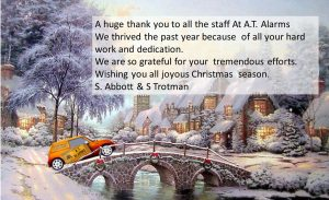 Christmas staff thank you graphic